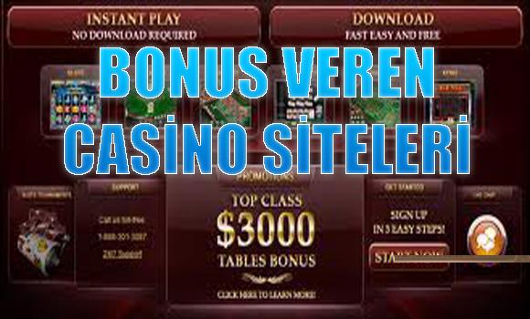 bonus veren casino siteleri, hangi casino siteleri bonus veriyor, Bonus veren yabancı casino siteleri